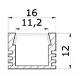 LED Alu-Profil PDS 4 eloxiert