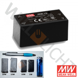 MW LED-Netzteil, 15W, 24V/0,63A [IRM-15-24]