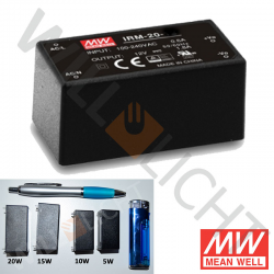 MW LED-Netzteil, 20W, 24V/0,9A [IRM-20-24]