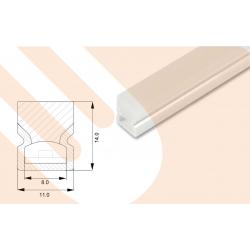 LED-Kunststoffprofil Line14