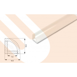 LED-Kunststoffprofil CORNERline PMMA 10 Eckprofil
