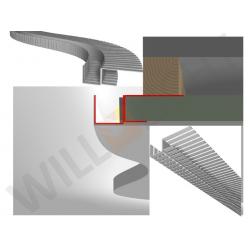 DSL LED-Trockenbauprofil FLEX für freie (schwebende) Flächen mit runden Konturen