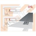 SNL LED-Trockenbauprofil mit Sichtschenkel für direkten Anschluß an Bauteile