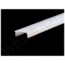 Kunststoffabdeckung aus Polycarbonat, satiniert, 12,5 mm