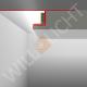 SNL LED-Putzprofil mit Sichtschenkel für direkten Anschluss an Bauteile
