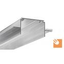 LED Alu-Profil TES-16 kpl. nicht eloxiert