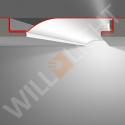 R10F LED-Putzprofil mit Reflektor-Sichtschenkel für Einbau in die Fläche