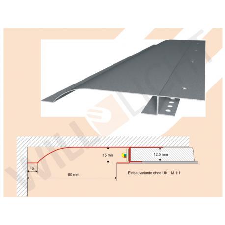 R10R LED-Trockenbauprofil mit Reflektor-Sichtschenkel für direkten Anschluß an Bauteile